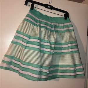 Alya Bubble skirt size M mint green/white/cream